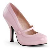Pink Varnished 12 cm retro vintage CUTIEPIE-02 mary jane pumps with hidden platform