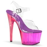 Purper 18 cm ADORE-708MCT Acryl hoge hakken schoenen pleaser