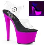 Purper 18 cm SKY-308UV Neon plateau schoenen dames met hak