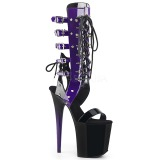Purper 20 cm FLAMINGO-800-38 lange kniehoge gladiator sandalen dames