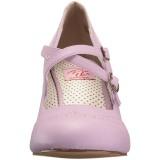 Purper 7,5 cm FLAPPER-35 Pinup pumps schoenen met lage hakken