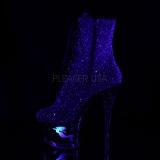 Purper glitter 18 cm MOON-1020MER paaldans enkellaarsjes met hoge hakken