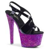 Purper glitter 18 cm Pleaser SKY-330LG paaldans schoenen met hoge hakken
