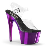 Purple 18 cm ADORE-708 Chrome Platform High Heels
