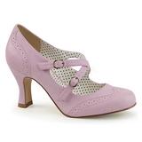 Purple 7,5 cm FLAPPER-35 Pinup Pumps Shoes with Low Heels