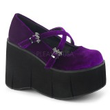 Purple Velvet 11,5 cm KERA-10 lolita platform shoes