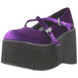 Purple Velvet 11,5 cm KERA-10 lolita platform shoes