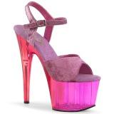 Purple Velvet 18 cm ADORE-709MCT Pole dancing sandals