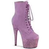 Purple glitter 18 cm ADORE-1020FSMG Exotic pole dance ankle boots