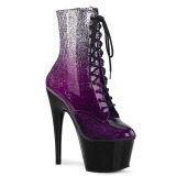 Purple glitter 18 cm ADORE-1020OMB Pole dancing ankle boots