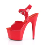 Red 18 cm ADORE-708N Platform High Heels Shoes