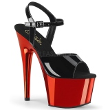 Red 18 cm ADORE-709 Chrome Platform High Heel
