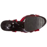Red 18 cm Pleaser MOON-728 Platform High Heel Shoes