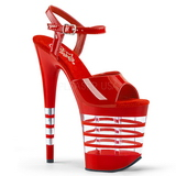 Red 20 cm Pleaser FLAMINGO-809LN High Heels Platform