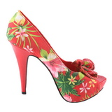 Red Floral 13 cm LOLITA-11 Womens Shoes with High Heels