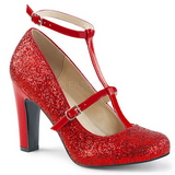 Red Glitter 10 cm QUEEN-01 big size pumps shoes