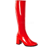 Red Patent 7,5 cm Funtasma GOGO-300 Women Knee Boots
