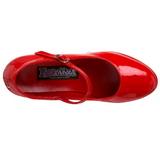 Red Shiny 11 cm MARYJANE-50 Mary Jane Platform Pumps