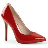 Red Shiny 13 cm AMUSE-20 Pumps High Heels for Men