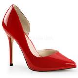 Red Shiny 13 cm AMUSE-22 Pumps High Heels for Men