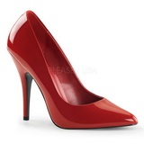Red Shiny 13 cm SEDUCE-420 Pumps High Heels for Men