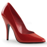 Red Shiny 13 cm SEDUCE-420V Pumps High Heels for Men
