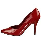 Red Shiny 13 cm SEDUCE-420V Pumps High Heels for Men
