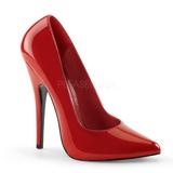 Red Shiny 15 cm DOMINA-420 Pumps High Heels for Men