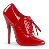 Red Shiny 15 cm DOMINA-460 Pumps High Heels for Men