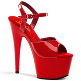 Red Shiny 18 cm ADORE-709 High Heels Platform