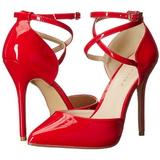 Red Varnish 13 cm AMUSE-25 High Heeled Evening Pumps Shoes