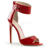 Red Varnish 13 cm SEXY-19 High Heeled Evening Sandals