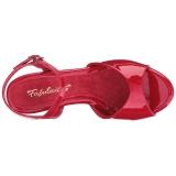 Red Varnish 8 cm BELLE-309 High Heels for Men