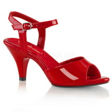 Red Varnish 8 cm BELLE-309 Womens High Heel Sandals