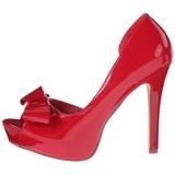 Red Varnished 12 cm LUMINA-32 High Heeled Evening Pumps Shoes