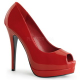 Red Varnished 13,5 cm BELLA-12 Women Pumps Shoes Stiletto Heels