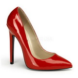 Red Varnished 13 cm SEXY-20 pointed toe stiletto pumps
