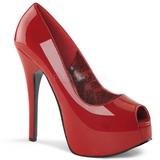 Red Varnished 14,5 cm Burlesque TEEZE-22 Women Pumps Shoes Stiletto Heels