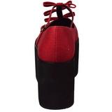 Red canvas 8 cm CLICK-08 lolita shoes gothic platform shoes