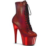 Red chrome 18 cm ADORE-1020HFN Exotic pole dance ankle boots