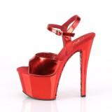 Red chrome platform 18 cm SKY-309TTG pleaser high heels shoes