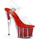 Red glitter 18 cm Pleaser ADORE-708G Pole dancing high heels shoes