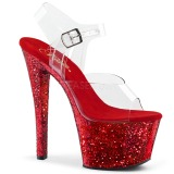 Red glitter 18 cm Pleaser SKY-308LG Pole dancing high heels shoes