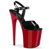 Red platform 20 cm FLAMINGO-809 pleaser high heels shoes