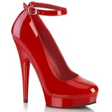 Red pumps 15 cm SULTRY-686 ankle strap high heels pumps