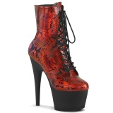 Red snake pattern 18 cm ADORE-1020SP Exotic pole dance ankle boots