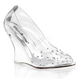 Rhinestones 10,5 cm LOVELY-420RS Women Wedge Pumps