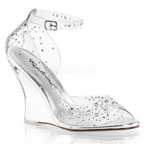 Rhinestones 10,5 cm LOVELY-430RS Women Wedge Sandals