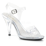 Rhinestones 10 cm CARESS-408SD high heeled sandals