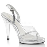Rhinestones 11,5 cm FLAIR-456 high heeled sandals